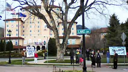 Click to see more banners over the Broadmoor