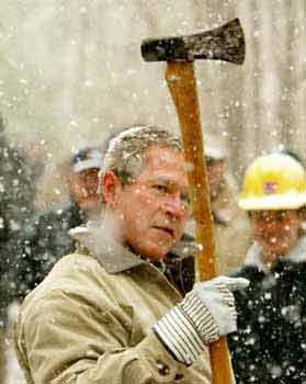 Bush gave the nation forty wacks…