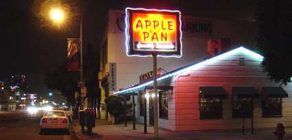 Apple Pan Restaurant on Pico Boulevard across from the Los Angeles West Side Pavilion Mall