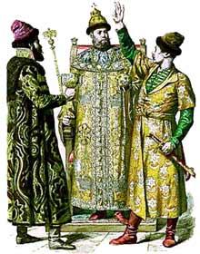 Boyars kissing up to the Czar