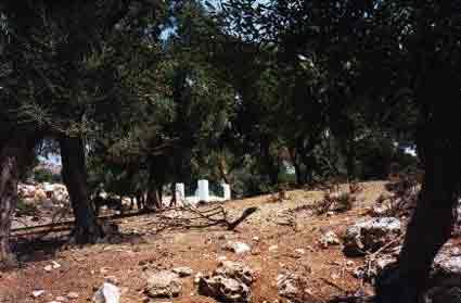 The grave of poet Rupert Brooke on Skyros Island in Greece.