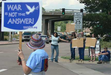 Peterson AFB counter-protesters August 2007