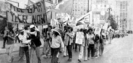 March in Detroit, May 1976 to FREE GARY TYLER NOW