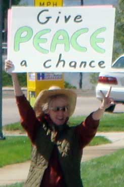 Marie give peace a chance