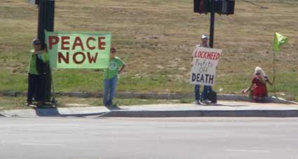 911 profiteer protest -SW corner