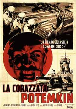 La Corazata Potemkin -Italian film poster