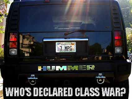 Are the rich outfitting themselves for the coming class war?