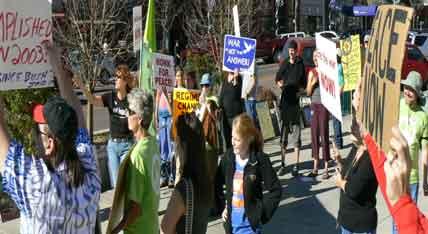 United For Peace and Justice Iraq Moratorium November 16 Acacia Park Colorado Springs