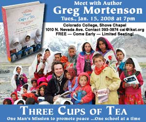 What is Greg Mortenson teaching the children of Pakistan?