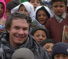 Greg Mortenson in Khanday