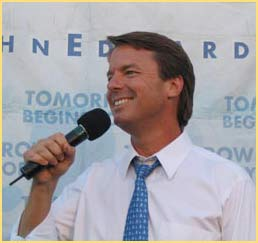 John Edwards favored by Ralph Nader and Michael Moore