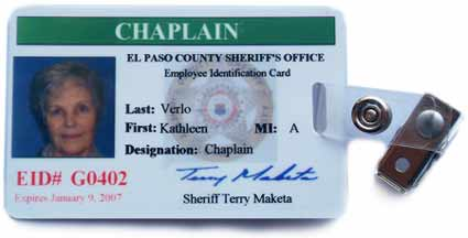 El Paso County Sheriff CHAPLAIN badge
