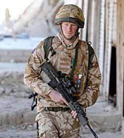 Prince Harry plays soldier