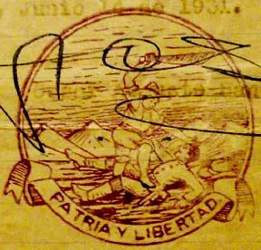 Sandino official postal seal