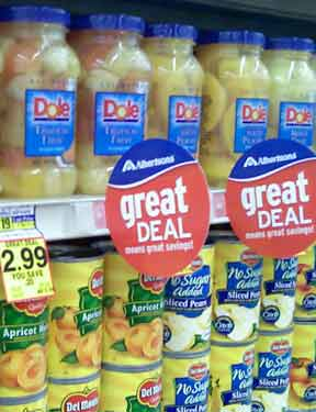 Supermarket repackaging
