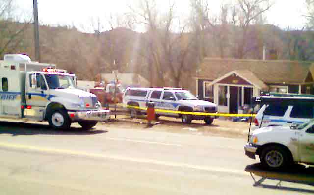 Hazmat truck, fire truck and police cruisers surround meth lab on Colorado Springs west side