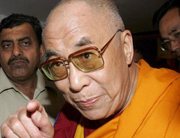 The Dalai Lama accused of inciting riot