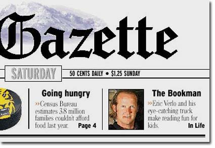 Gazette story about the Bookman bookmobile