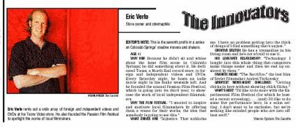 Gazette top ten innovators of 2002