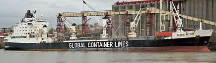 Container ship under contract with the US Navy