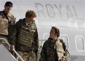 Prince Harry returns with triumphant retinue