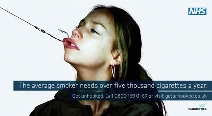 Average smoker is hooked