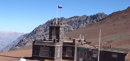 Chilean fort Bermijo Pass Andes