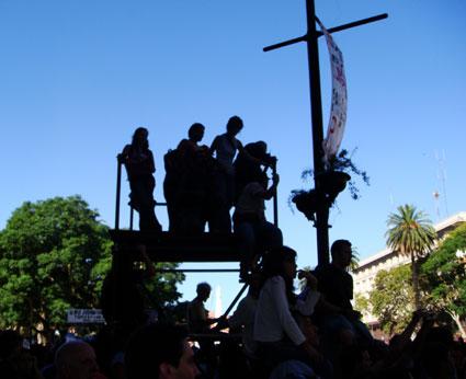 Argentina protest media