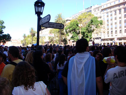 Argentina plaza protest