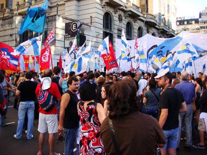 Argentina protestors