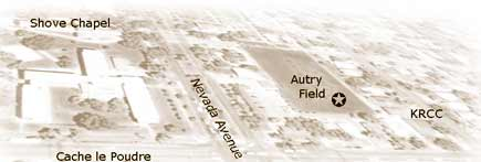 Autry Field is located a half block East of Shove Chapel