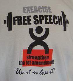 Free Speech -use it or loose it.