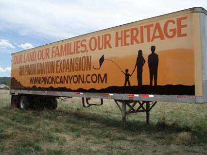 Pinon Canyon- Our land, our families, our heritage -PCEOC