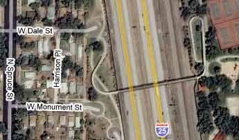 I-25 Monument Valley Park pedestrian overpass