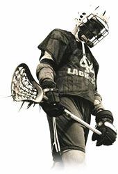 Lacrosse baggataway warrior