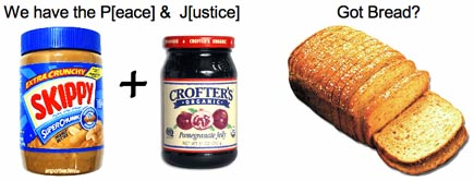 We have peanut butter and jelly, got bread?