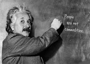 Albert Einstein at the chalkboard