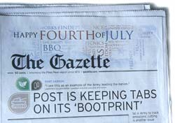 Colorado Springs Gazette Telegraph July 4, 2008