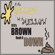 if it's yellow if it's brown