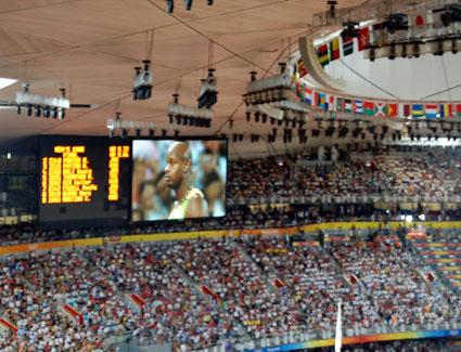 Beijing 2008 birdsnest Usain Bolt