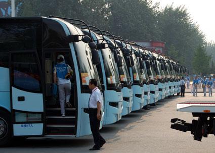 Beijing Olympics buses