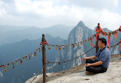 Mt Huashan, China meditation