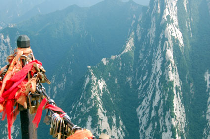 Mt Huashan, China gold locks