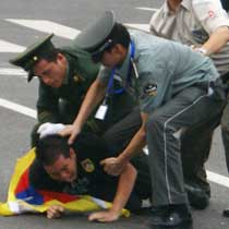 Tibet protester arrested in Tiananmen Square