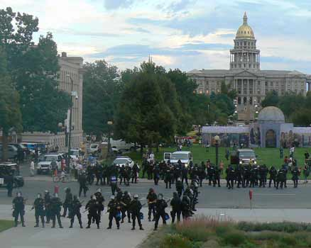 Police crowd control at the Denver DNC, August 2008