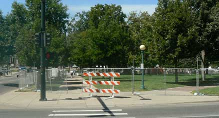 Civic Center Park Closed