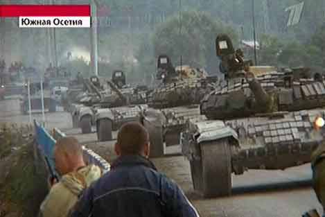 Russian tanks come to protect South Ossetia