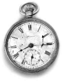 Hiroshima pocketwatch stopped at 8:45