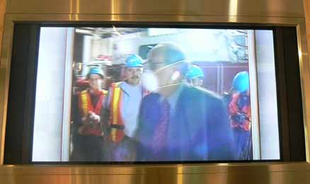 Wears mask at Ground Zero