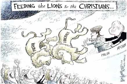 feeding lions to christians